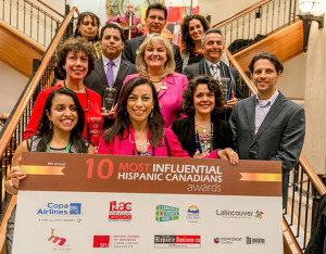 Winners of the 10 Most Influential Hispanic Canadians Awards in 2014